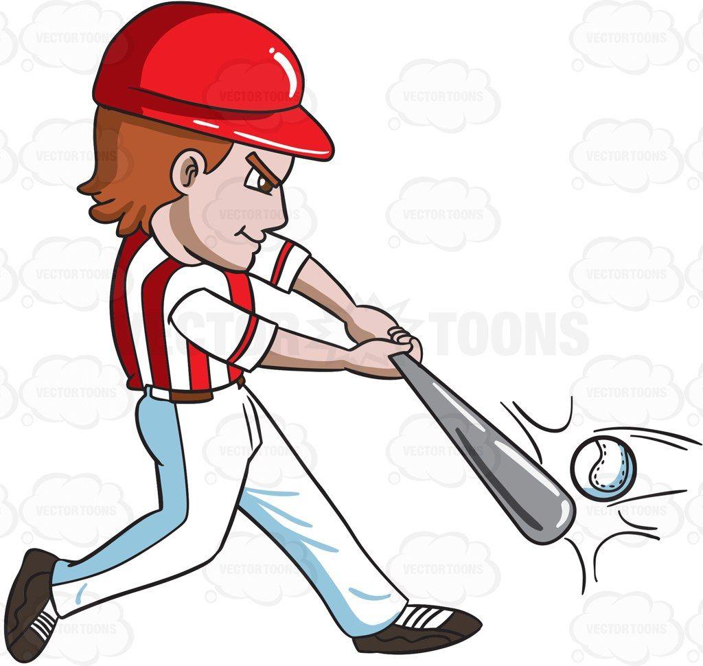 Bat hitting a baseball clipart image library library A baseball player hitting a ball with a bat #cartoon #clipart ... image library library