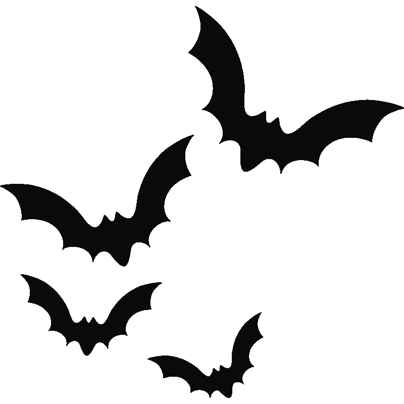 Halloween flying bats clipart clip art black and white Bats Silhouette at GetDrawings.com | Free for personal use Bats ... clip art black and white