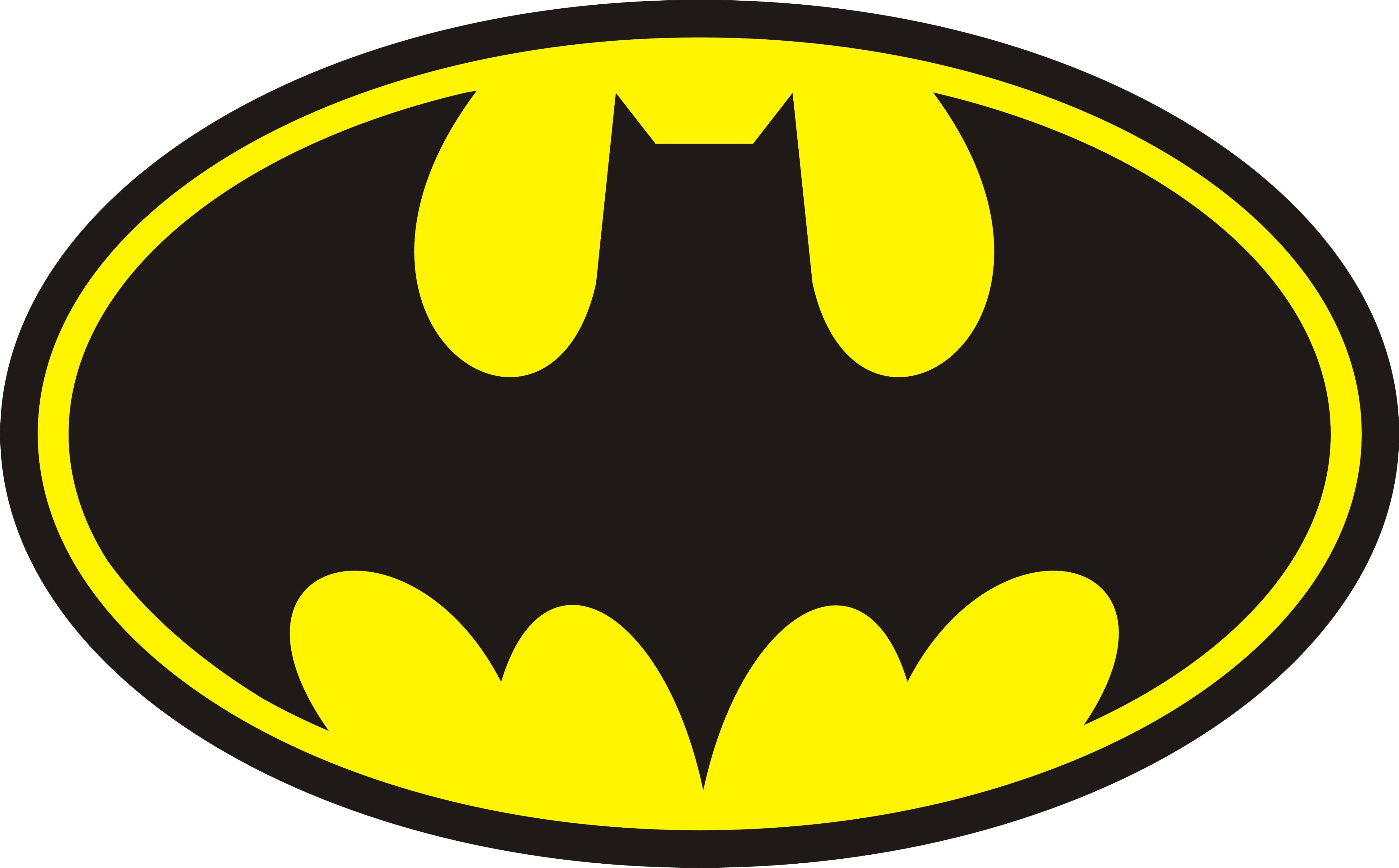 Batman logo clipart template