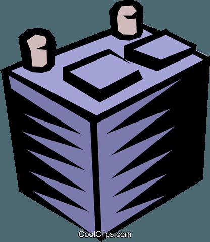 Baterias clipart image transparent download Bateria de carro livre de direitos Vetores Clip Art ilustração ... image transparent download