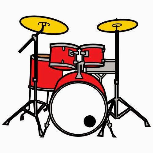Baterias clipart vector free Bateria color | daniel | Instrumentos musicales, Bateria musica y ... vector free