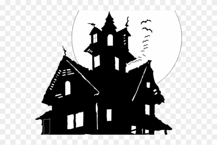 Bates motel clipart clipart black and white stock Haunted House Clipart No Background, HD Png Download - 640x480 ... clipart black and white stock