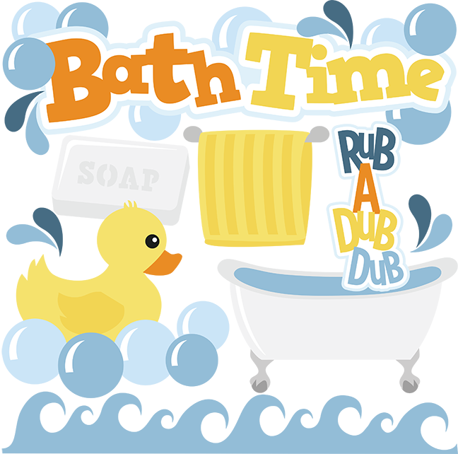 Bathtime clipart banner black and white library Bath Time set SVG | My Miss Kate Cuttables | Baby girl scrapbook ... banner black and white library