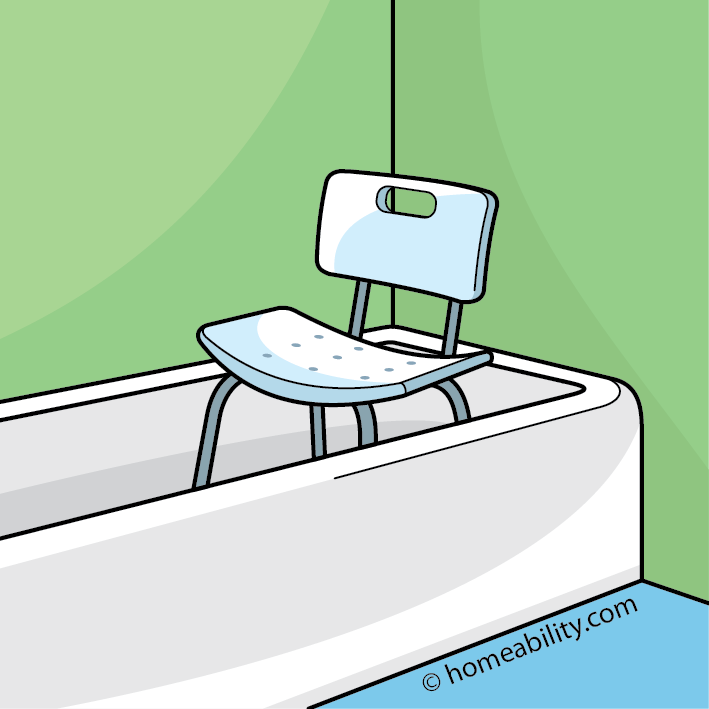 Bath 10 cents clipart clipart black and white download Bath Chair Guide: The Basics | homeability.com clipart black and white download