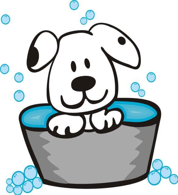Bath dog clipart vector royalty free Dirty Dog Clipart | Free download best Dirty Dog Clipart on ... vector royalty free
