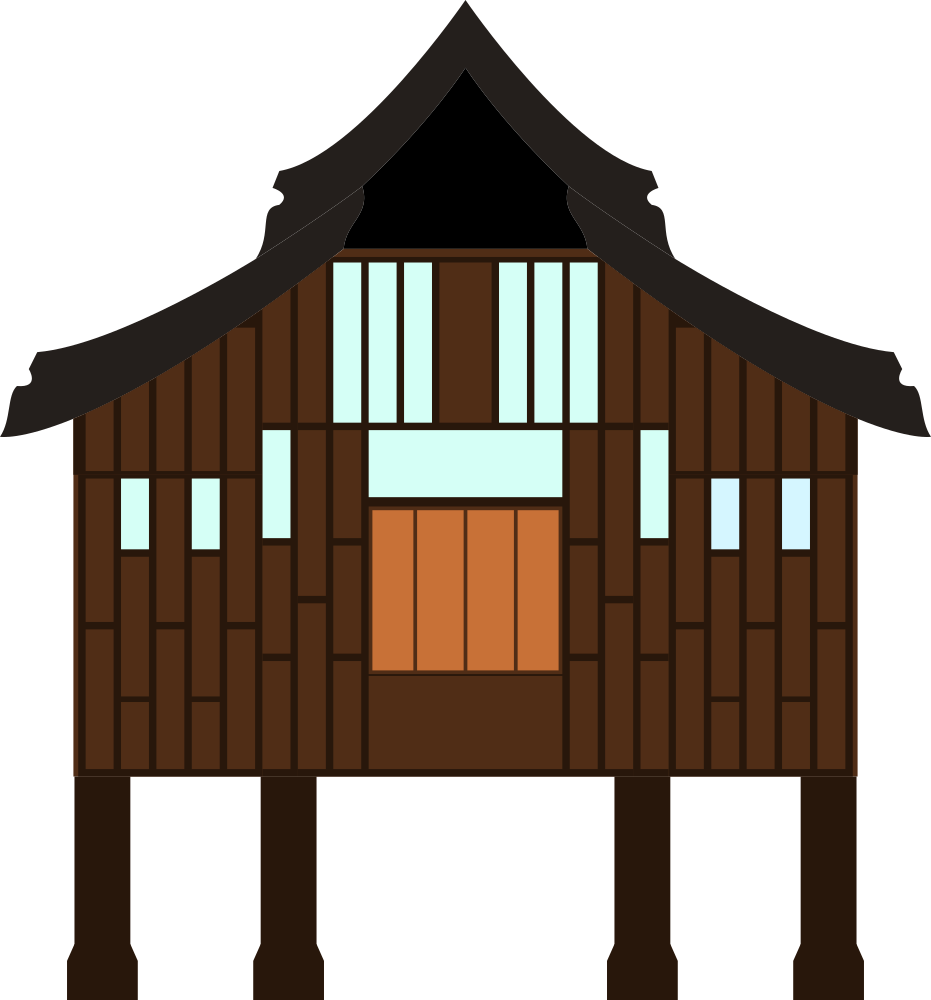 Village house clipart stock OnlineLabels Clip Art - Terengganu Kampung House stock