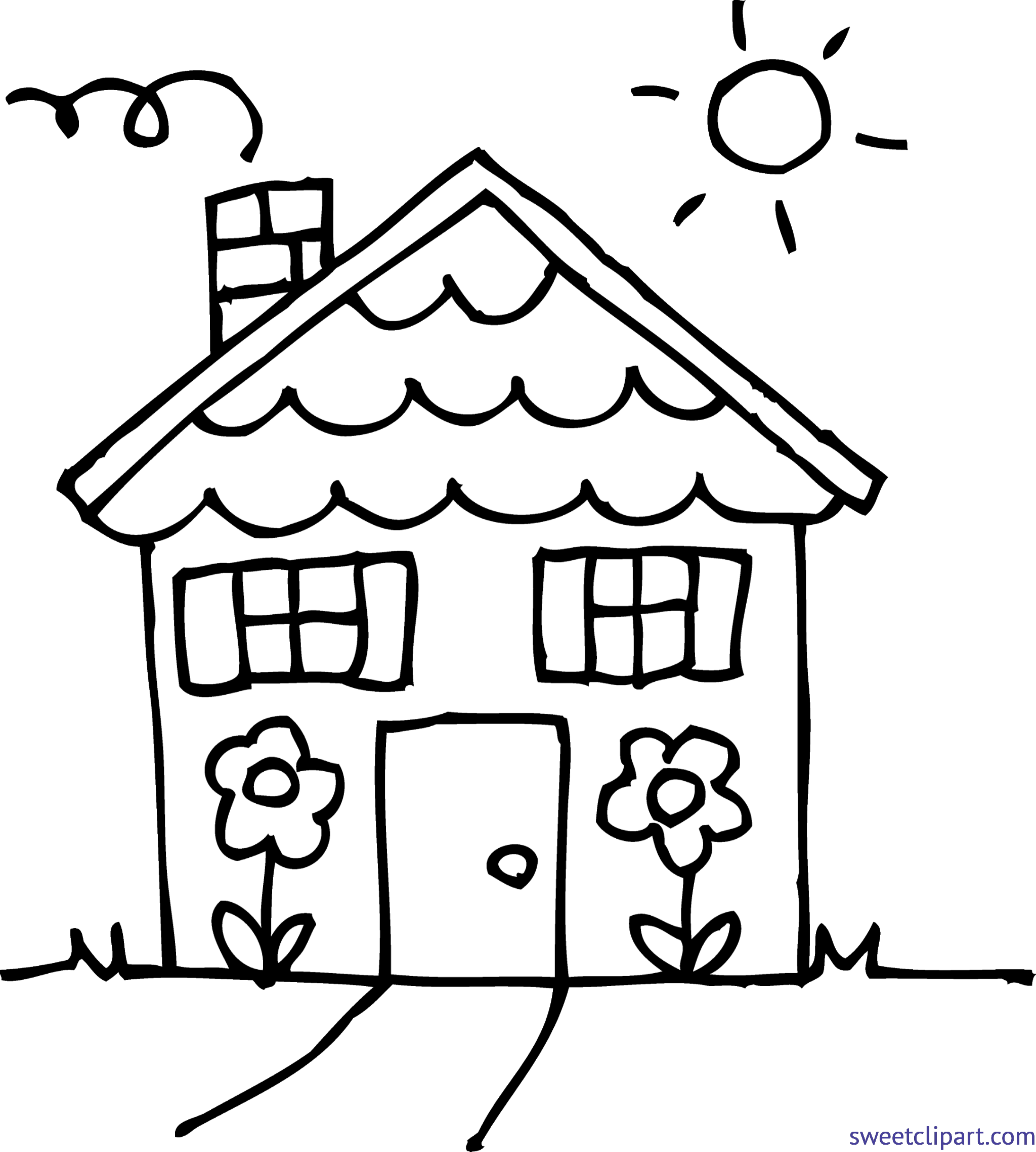 Inside house clipart black and white image download House Line Drawing Clip Art at GetDrawings.com | Free for personal ... image download