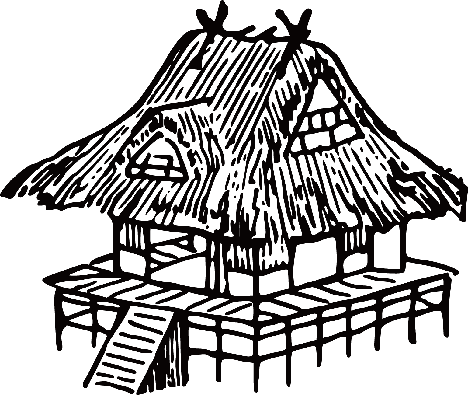 Hut house clipart svg royalty free library Japan House Drawing Clip art - Line hut 1539*1298 transprent Png ... svg royalty free library