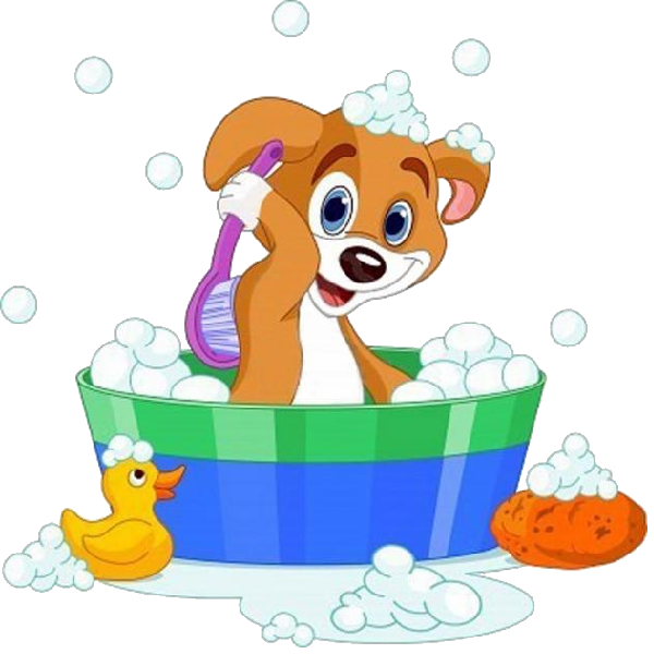 Washing dog clipart free cartoon dog having a bath | Mesefigurák | Pinterest | Party cartoon ... free