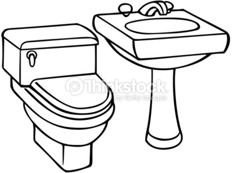 School bathroom line clipart black and white graphic royalty free stock Bathroom Clipart | Free download best Bathroom Clipart on ClipArtMag.com graphic royalty free stock