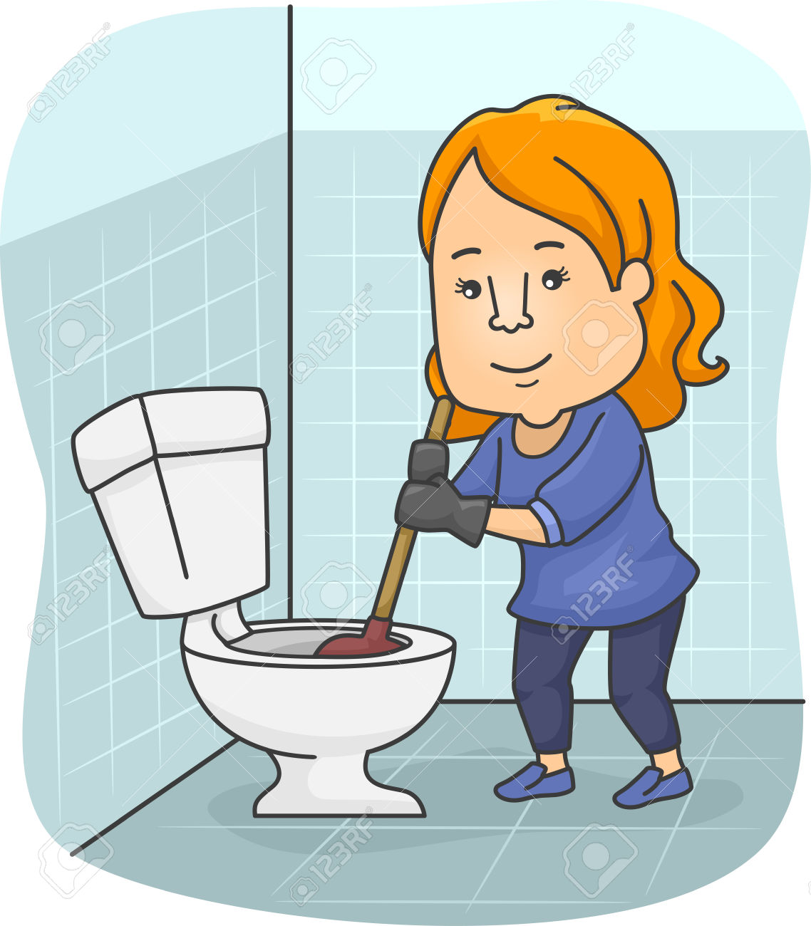 Bathroom clean up clipart svg stock Toilet cleaner clipart - Clip Art Library svg stock