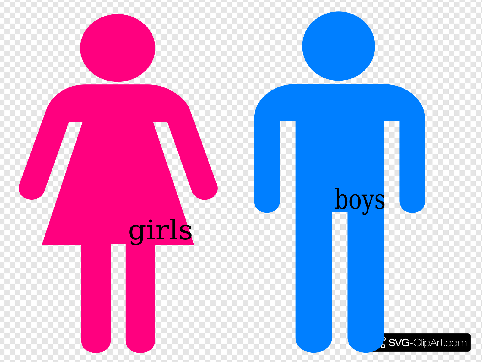 Bathroom girl clipart graphic library Bathroom Passes Clip art, Icon and SVG - SVG Clipart graphic library