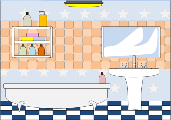 Bathroom pictures clipart picture free download Bathroom 2 | Free Images at Clker.com - vector clip art online ... picture free download