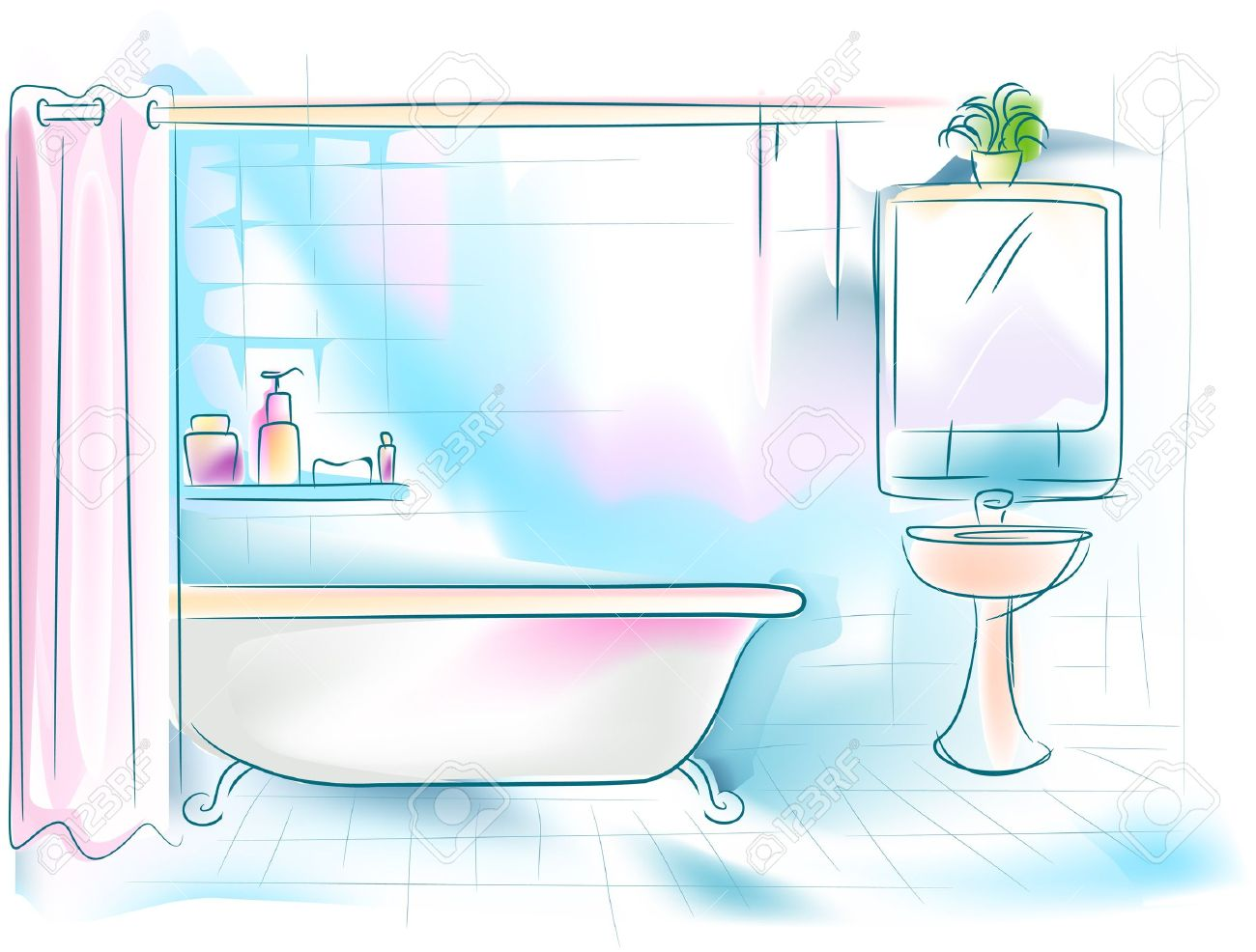 Bathroom pictures clipart clipart black and white stock Bathroom clipart 2 - Cliparting.com clipart black and white stock
