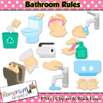 Bathroom rules clipart picture freeuse download Bathroom Rules Clip art picture freeuse download