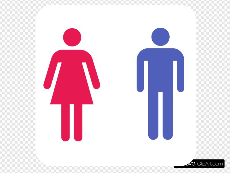 Bathroom sigh clipart svg freeuse library Large Man Woman Bathroom Sign Clip art, Icon and SVG - SVG Clipart svg freeuse library