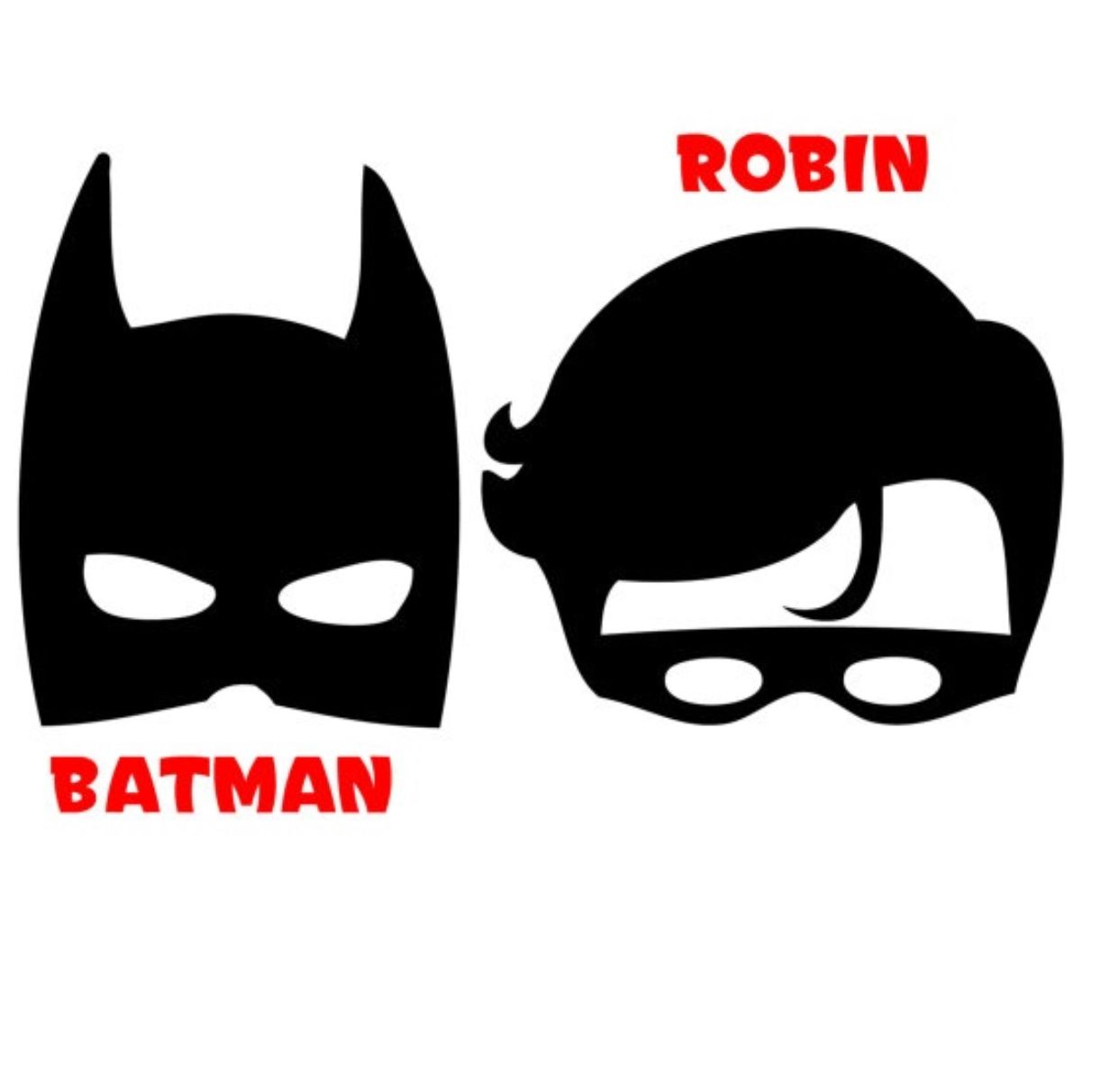 Batman amd robin clipart black and white image transparent download Pin by Marissa Kalan on CRICUT | Batman, robin costumes, Batman mask ... image transparent download