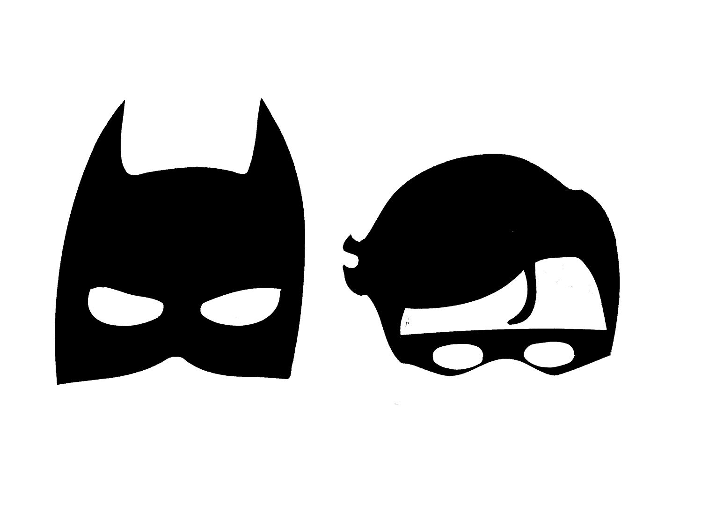 Batman and robin black and white clipart png free stock Amazon.com: Retro Batman & Robin Masks Vinyl Decal 115 (Black, 7.5 ... png free stock