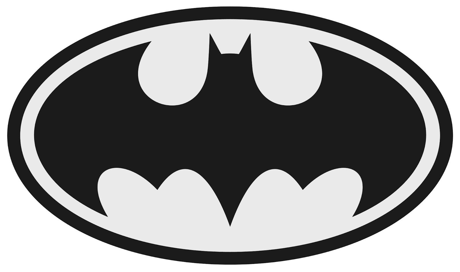 Batman logo clipart black and white picture library stock How to make your own custom printables (including downloadable ... picture library stock