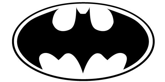 Batman logo clipart black and white picture freeuse library Batman older superhero symbol LOGO Vinyl Decal Sticker by somaodio ... picture freeuse library