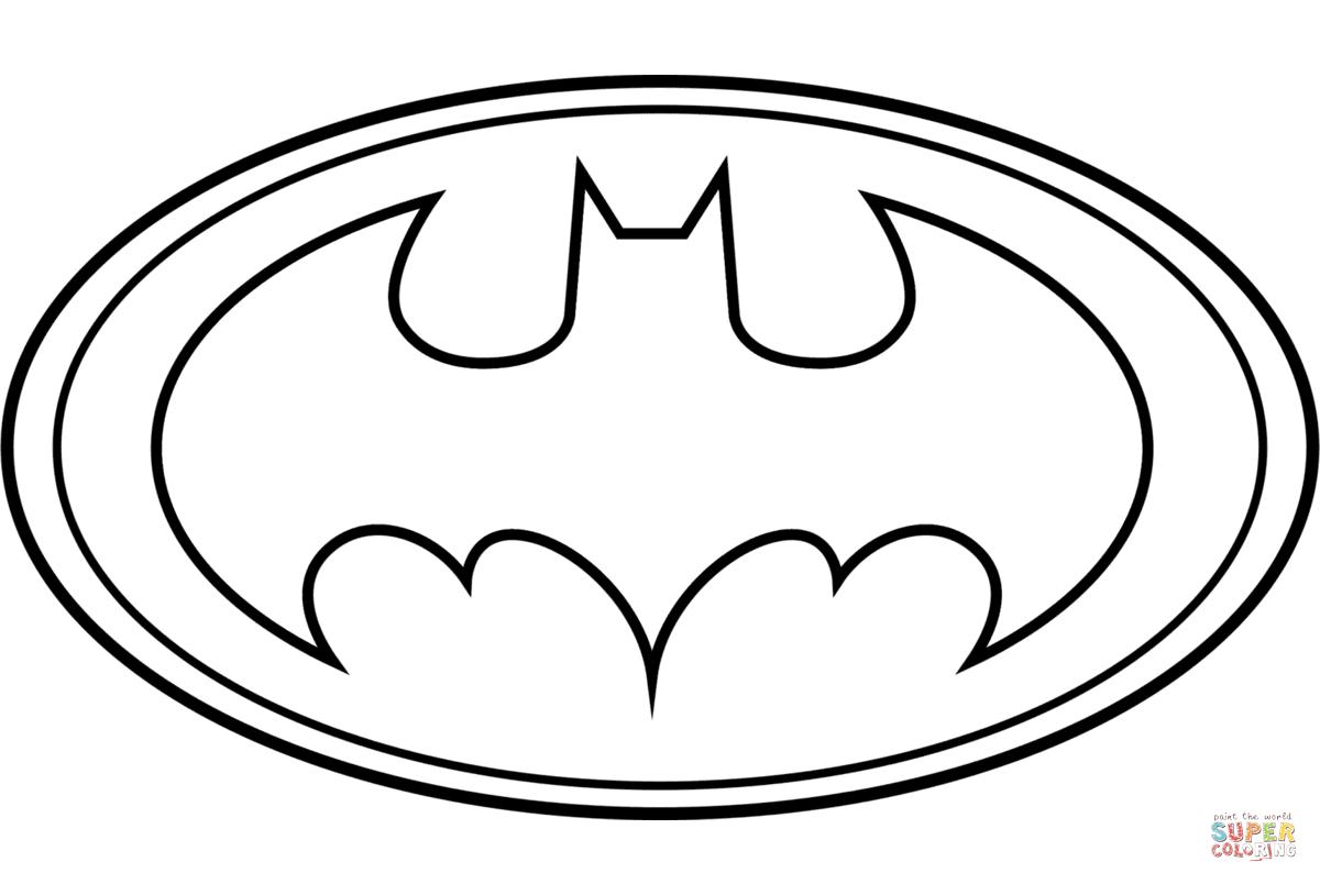 Batman logo clipart black and white black and white Batman Logo coloring page | Free Printable Coloring Pages - ClipArt ... black and white