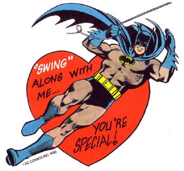 Batman valentine clipart clip library library Batman Valentine\'s Day Cards Through History clip library library