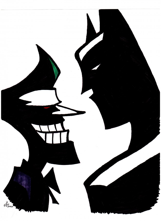 Art pictures free download. Batman vs joker clipart