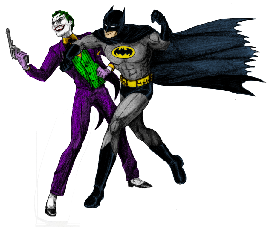 Batman vs joker clipart clip art black and white Batman vs Joker Clipart - Cliparts and Others Art Inspiration clip art black and white