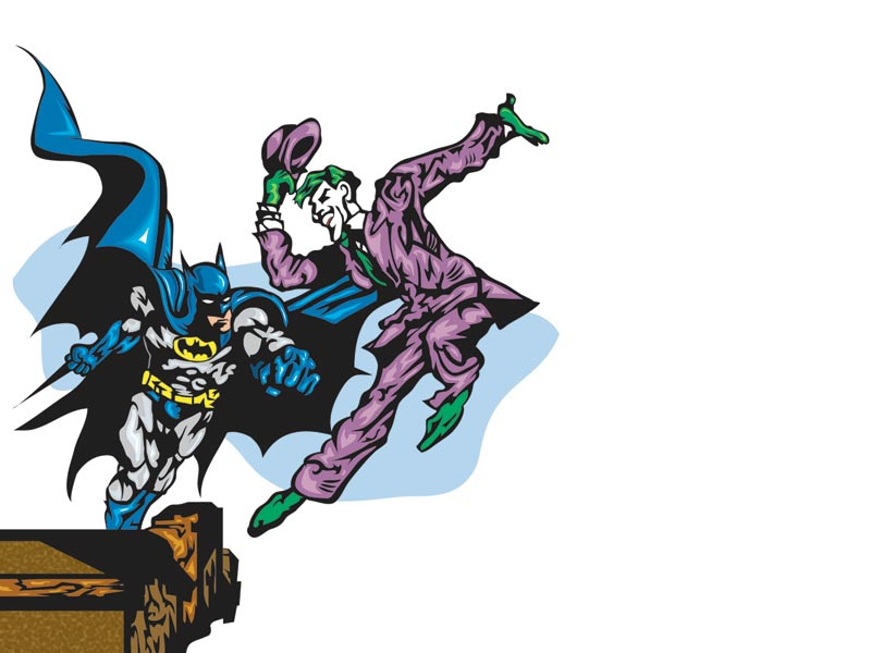 Batman vs joker clipart. Cliparts and others art