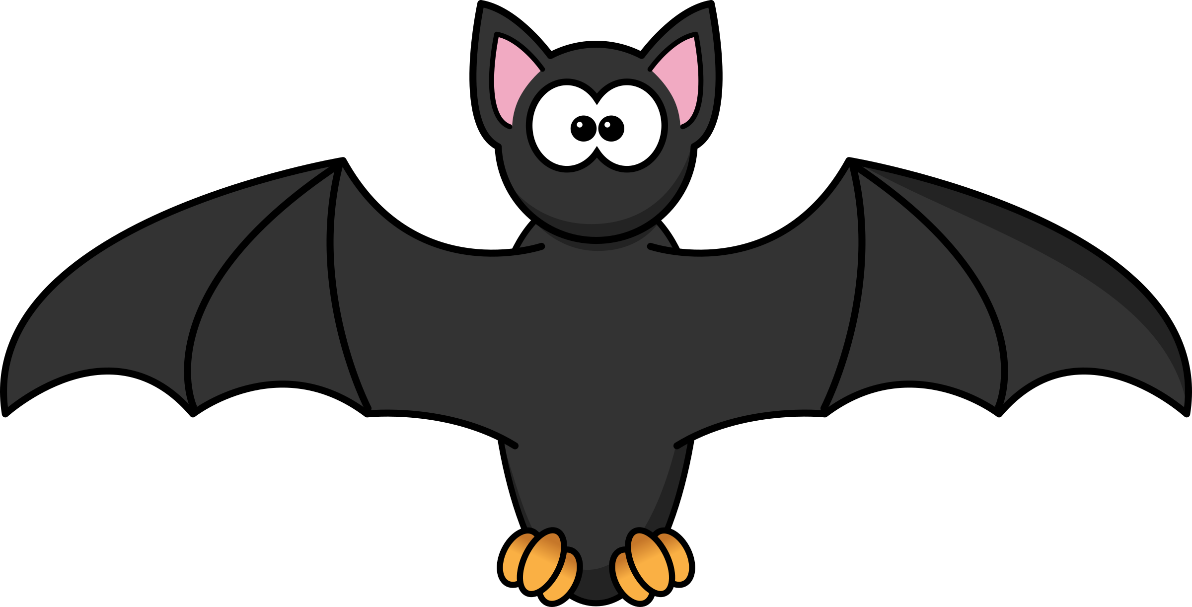 Bats clipart halloween banner Clipart - Cartoon Bat banner