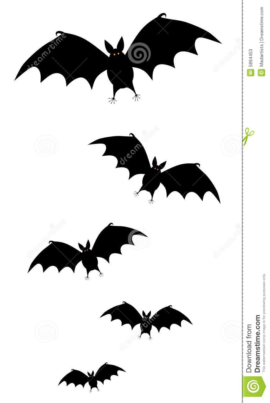 Bats flying at night clipart black and white vector free library Halloween Bat Clipart Black And White | Clipart Panda - Free Clipart ... vector free library