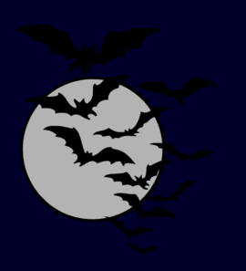 Bats flying at night clipart black and white svg freeuse Bat Night Clip Art at Clker.com - vector clip art online, royalty ... svg freeuse