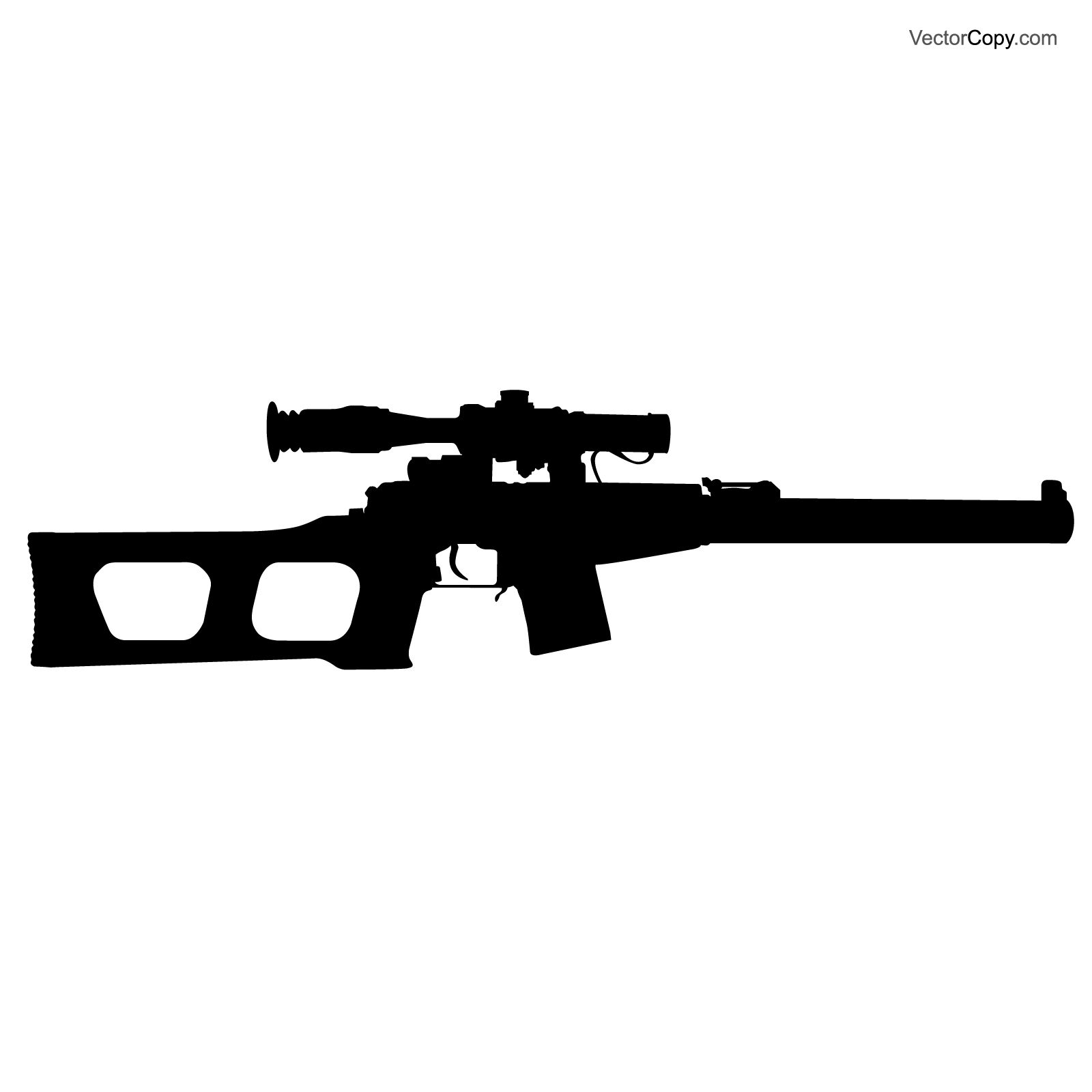 Battle rifle clipart image transparent download Silhouette of USSR sniper rifle, free vector | Silhouettes | Vector ... image transparent download