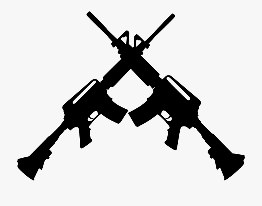 Battle rifle clipart graphic black and white library Guns Clipart Transparent - Crossed Guns #117574 - Free Cliparts on ... graphic black and white library