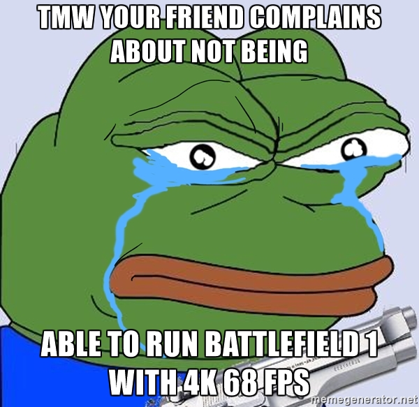 Battlefield 1 clipart 4k png royalty free Tmw your friend complains about not being able to run Battlefield ... png royalty free