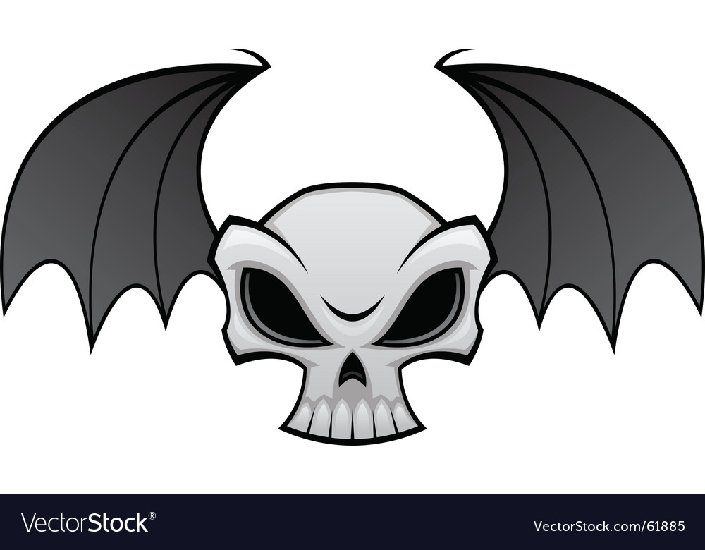 Batwing clipart jpg transparent stock Batwing skull jpg transparent stock