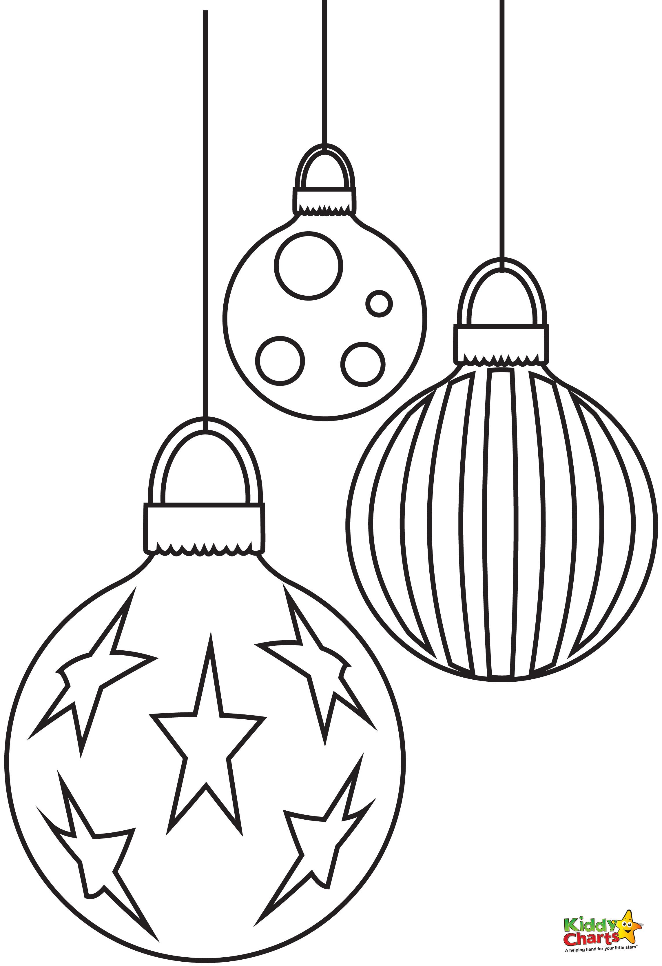 Baubles clipart black and white banner Baubles - Free Christmas Coloring Pages from | Filofax | Free ... banner