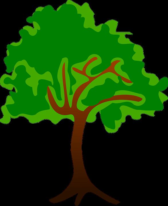 Baum clipart kostenlos banner royalty free Kostenlose Vektorgrafik: Clipart, Flora, Natur, Pflanze ... banner royalty free