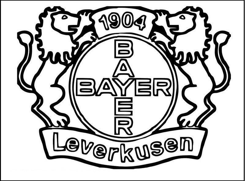 Bayer leverkusen logo clipart graphic freeuse stock Bayer Leverkusen Soccer Club Logo Clip Art coloring pages   sport ... graphic freeuse stock