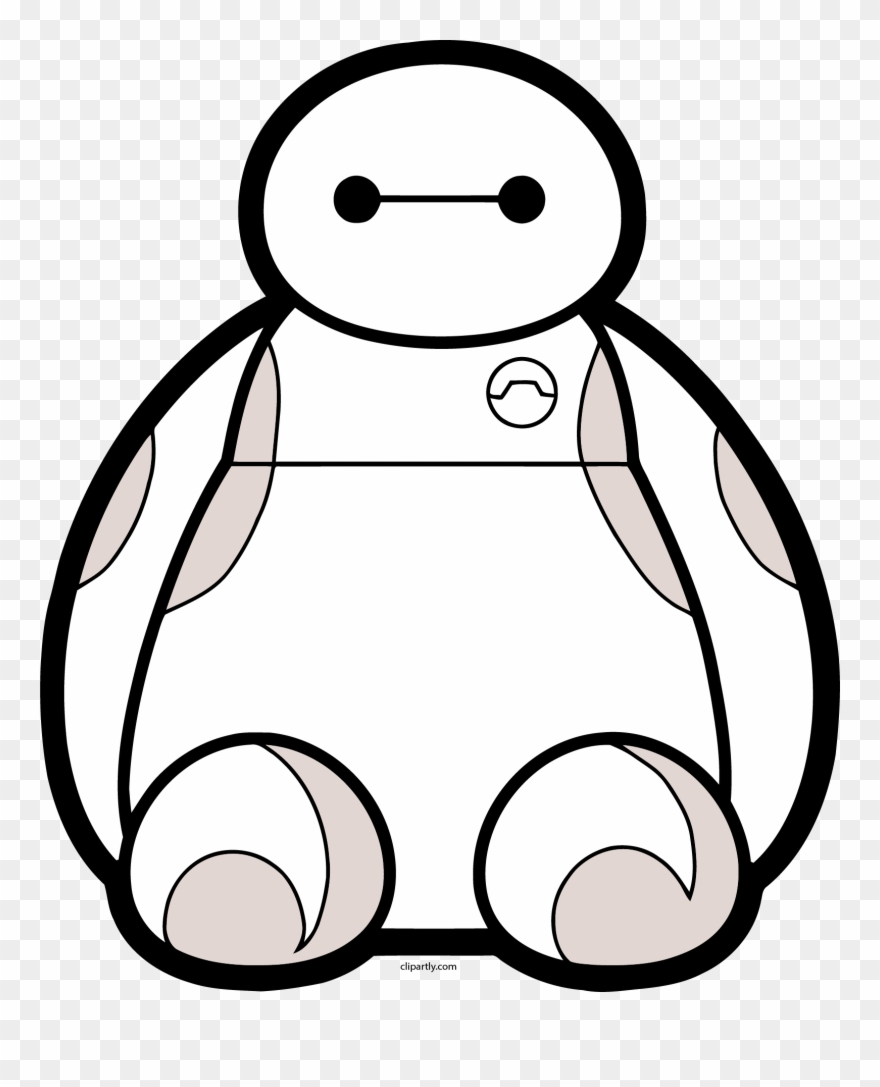 Baymax clipart black and white royalty free library Baymax Front View Png Clipart - Big Hero 6 Transparent Png (#1895440 ... royalty free library