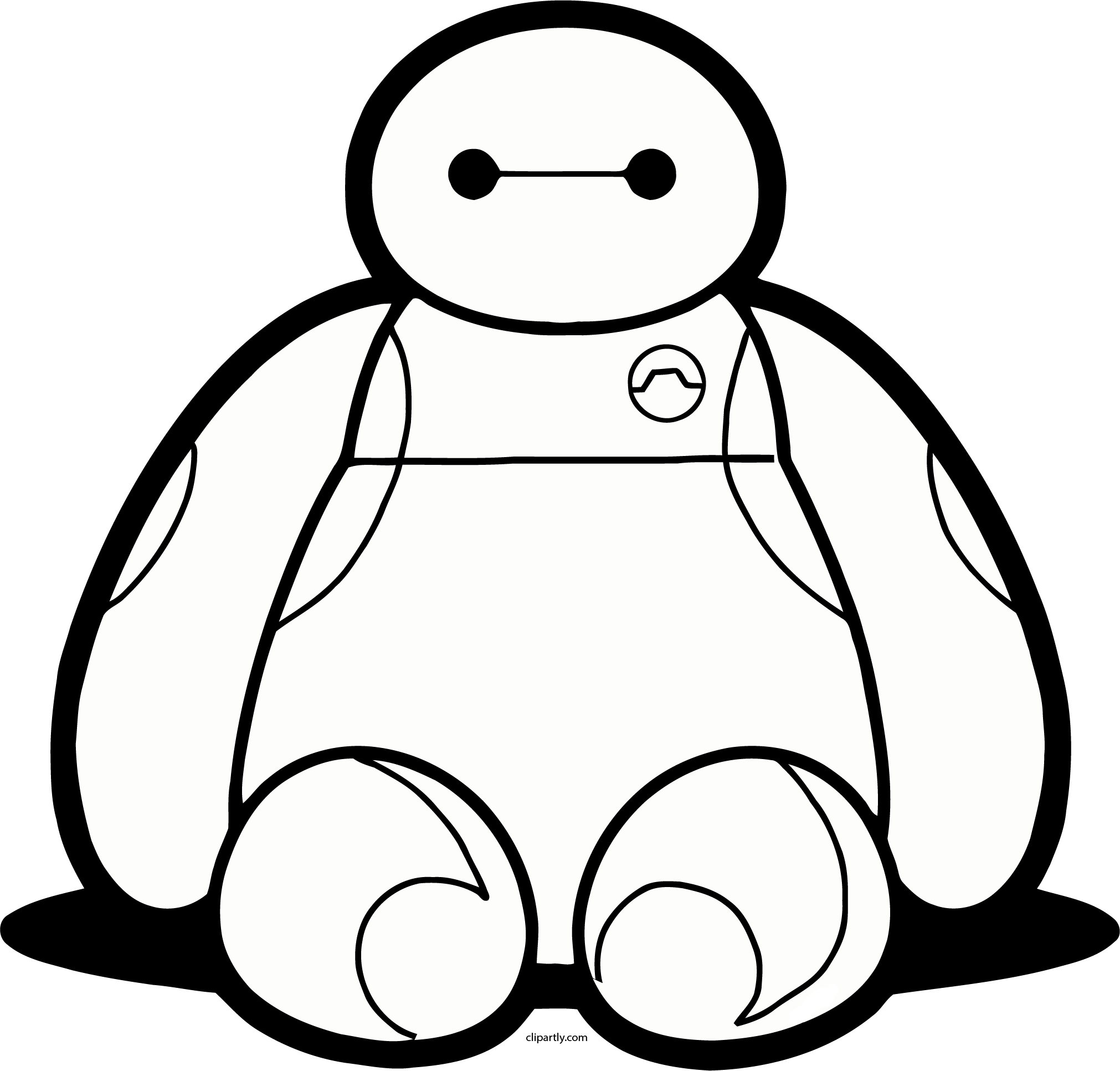 Baymax clipart black and white jpg transparent stock Download Free png Baymax Clipart for you – Free Clipart Images ... jpg transparent stock