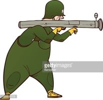 Bazooka clipart png transparent library Soldier With Bazooka stock vectors - Clipart.me png transparent library