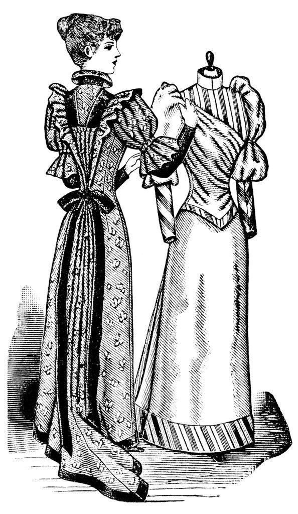Bazzar clipart black and white clip antique dress form, black and white clipart, halls bazaar form, old ... clip