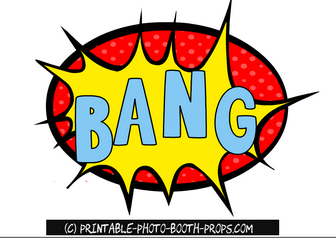 Bbang clipart clipart stock Bang Comic Book Style Prop | Free Printable Photo Booth Props ... clipart stock