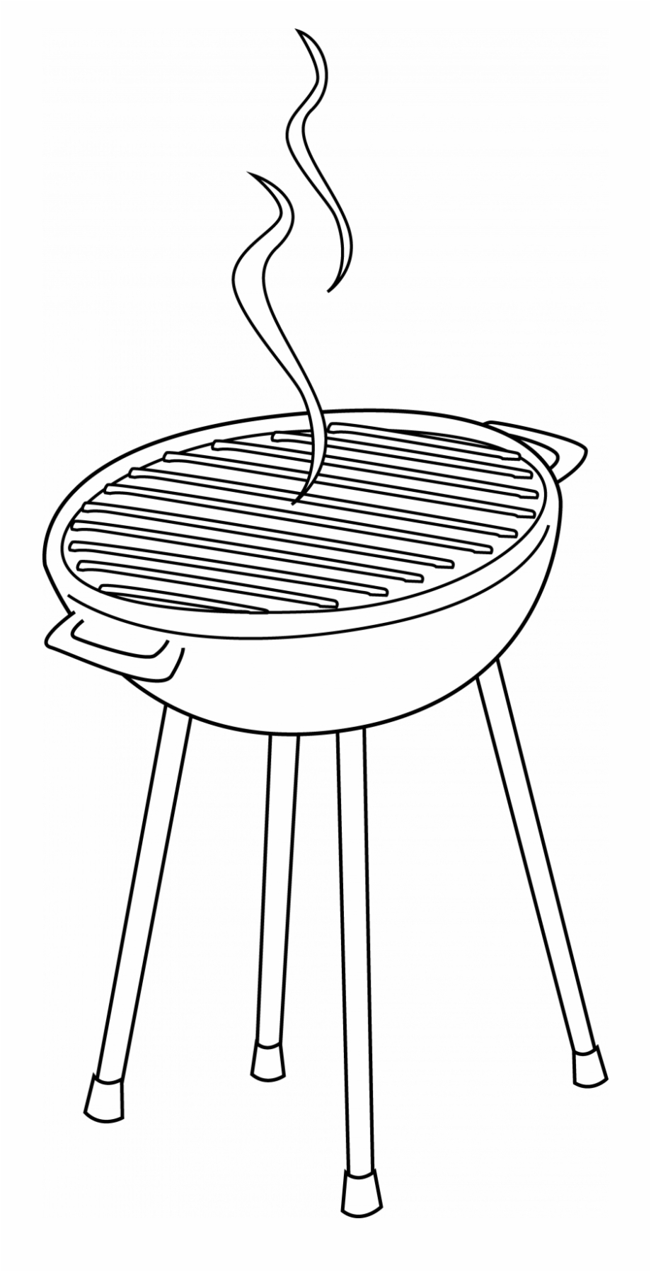 Bbq black and white clipart graphic transparent download Barbeque Grill Clip Art Free - Grill Clipart Black And White Free ... graphic transparent download