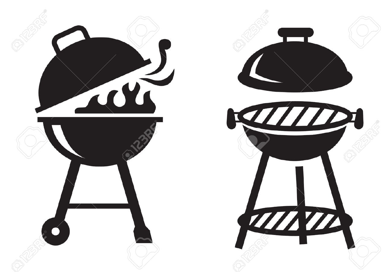 Bbq clipart black and white free Bbq grill clipart black and white 1 » Clipart Station free