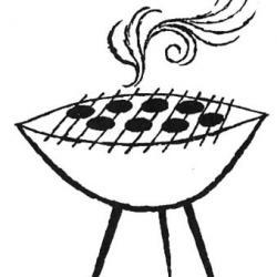 Bbq clipart black and white picture freeuse Bbq Black And White | Free download best Bbq Black And White on ... picture freeuse