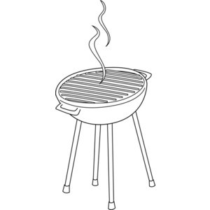 Bbq clipart black and white vector free Barbeque clipart black and white 4 » Clipart Portal vector free