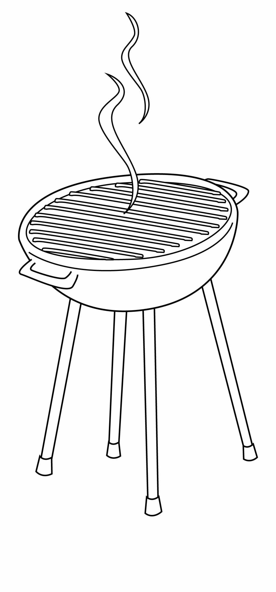 Bbq clipart free black and white jpg Barbeque Grill Line Art - Grill Clipart Black And White Free PNG ... jpg