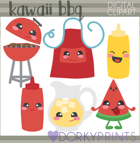 Bbq food clipart picture free Kawaii BBQ Food Clipart picture free